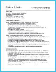 Sample Criminal Justice Resumes Resume Criminal Justice Major Free Resume Sample With Resume