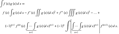 Integration By Parts From Wolfram Mathworld