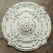 ornate metal chandelier ceiling medallion