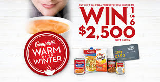 co op cbells warm up to winter win one of six 2 500 gift cards
