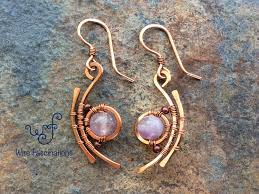 Designer Wire Jewelry These Handmade Copper Earrings Are A Geometric Design Wire