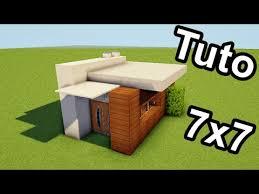 minecraft tuto 7x7 ment faire une mini maison moderne