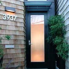 frosted glass entry