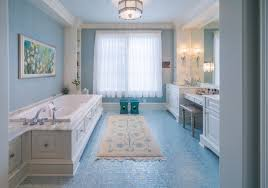 blue bathroom floor tiles. Retro Style Bathroom Interior Blue Floor Tiles D