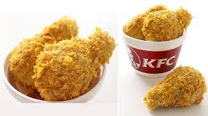 kfc fried chicken. Plain Fried And Kfc Fried Chicken