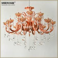 fanciful rose gold light fixture modern 18 arm chandelier crystal fl therapy bulb quality