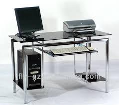 glass and chrome desk black computer popular high quality glass and chrome desk modern black computer