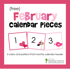 Calendar Numbers For Pocket Chart February Pocket Chart Calendar Pieces