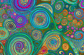 Trippy Patterns Enchanting Trippy Self Portrait Orchard View Color