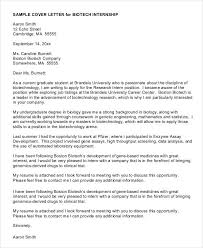 Gallery Of Cover Letters For Internship 7 Free Word Pdf Documents