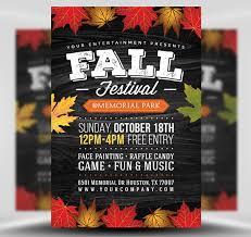 Fall Festival Flier Fall Festival Flyer Template 2 Flyerheroes