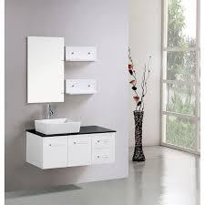 kokols floating 36 inch white cabinet wall mount