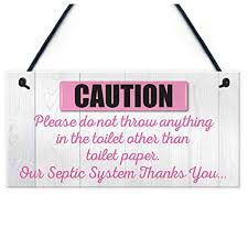 Bathroom Paper Delectable Amazon TOOGOOR Only Toilet Paper Hanging Septic Tank Plaque