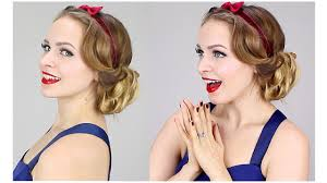 1930s Hair Style easy snow white updo 1930s youtube 5661 by wearticles.com