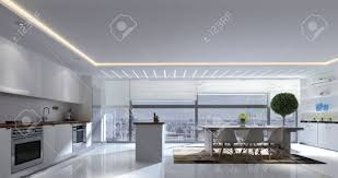 small track lighting. 3D Rendering Of Spacious Kitchen And Dining Room With Track Lighting, Mirrors Small Tree Lighting Y