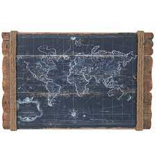 vintage map wood wall decor hobby