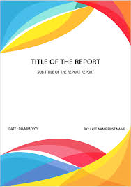 Microsoft Word Template Report Cover Page Download Template For Ms Word Colorful Cover Page