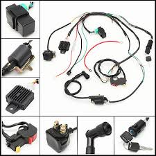 110 atv zeppy io electric start engine wiring harness loom for cdi 110 125cc quad bike atv buggy