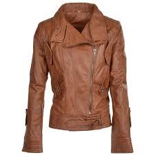 ashwood leather biker jacket cognac app milly