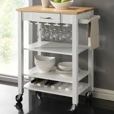 Wood Utility Cabinet Butcher Block Kitchen Cart Rolling Wood Storage Utility Cabinet