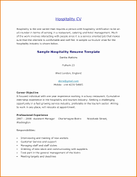 Sample Resume For Hotel Management Internship New Sample Resume