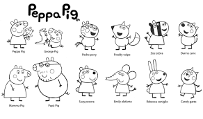 Small Picture printable Peppa Pig cartoon coloring pages for kids coloring7com
