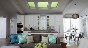 Cool Cool Sun Skylight Shades For Open Space Living Room And Kitchen  Interior (Image 5