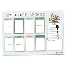 Board Wx Magnetic Weekly Planner For Fridge At A Glance Family