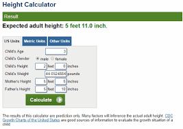 5 Free Online Child Height Predictor