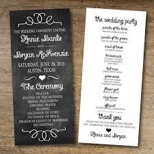 Chalkboard Wedding Program Free Printable Wedding Program