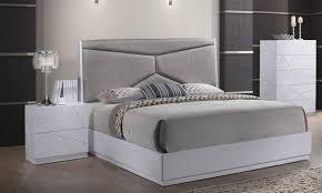 global furniture pandora modern white gloss finish queen bedroom set 5 pcs order