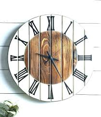 white wood clock white wood clock large wood wall clock clocks charming large unique wall clocks inch wall clock