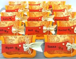 Homemade Card Templates Colorful And Elegant Thanksgiving Place Cards Romantic