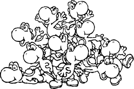 Small Picture Printable Yoshi Coloring Pages Coloring Me