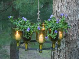 wine bottle outdoor chandelier candle 1