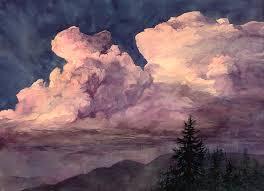 storm clouds watercolor