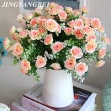 15 голов/букет, маленькие бутоны <b>розы</b>, искусственные <b>цветы</b> ...