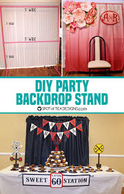 diy party backdrop stand dimensions listed and tips on building one spotofteadesigns com