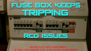 fusebox keep tripping rcd no electricity youtube circuit breaker keeps tripping immediately at Fuse Box Breaker Keeps Tripping