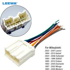 leewa car radio stereo wiring harness adapter for mitsubishi lancer 2006 mitsubishi lancer radio wiring diagram leewa car radio stereo wiring harness adapter for mitsubishi lancer galant outlander 3000gt