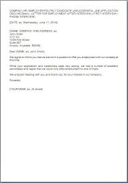 Template Letter Unsuccessful Job Interview New Sample Thank You ...