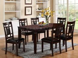 paige 7 piece dining room furniture in dark brown 2325 casual and yet elegant