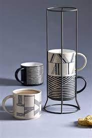 This design will not only hurt your mouth when you use it to drink water or drink, but it can also be cleaned well and has stacking mugs with rack is made of melamine, so it is very light, so it can be easily used to hold coffee, tea, juice and other liquids. Not Necessarily These Exact Mugs But Something Stackable In A Stand Buy Set Of 4 Stacking Mugs From The Next Uk Online Shop Mugs Mugs Set Coffee Cup Holder