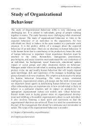 organisational behaviour notes for ktu mba  development 3 12 organizational behaviour
