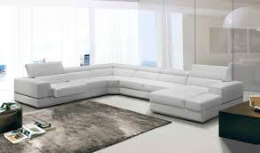 Modern White Furniture For Living Room Divani Casa Pella Modern White Bonded Leather Sectional Sofa