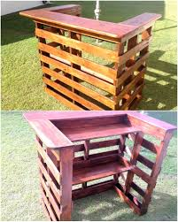 Pallets Low Cost Diy Pallet Wood Creations Wood Pallet Bar Wood Pallets