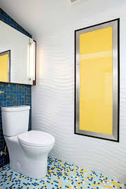 colorful bathroom accessories. Photos Hgtv Colorful Contemporary Bathroom With Textured Wavy Walls Small Blue And Yellow Tile Floor Accent Home Decor Accessories