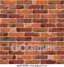 vector clipart old brick wall