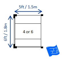 4 by 6 photo size dining room size