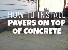 patio pavers over concrete.  Over How To Install Pavers On Top Of Concrete Hanover PA Hardscaping Contractor   RYANu0027S LANDSCAPING YouTube Throughout Patio Pavers Over Concrete